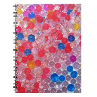 Caderno Espiral bolas transparentes da água