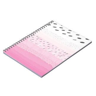 Caderno Espiral Bolinhas do rosa Pastel