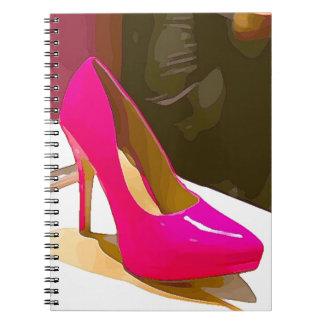 Caderno Espiral Bomba do rosa quente