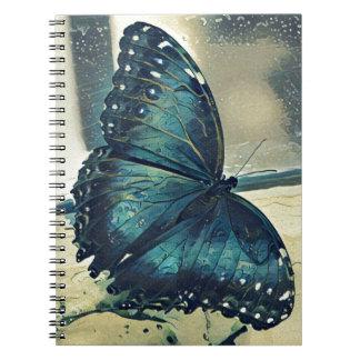 Caderno Espiral Borboleta azul