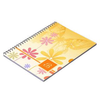 Caderno Espiral Borboletas da flor do duende