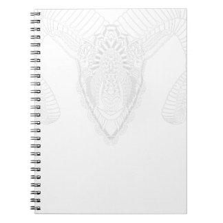Caderno Espiral Branco do estilo da mandala do desenho da ram