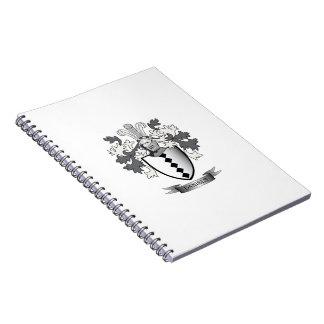 Caderno Espiral Brasão da crista da família de Daniels