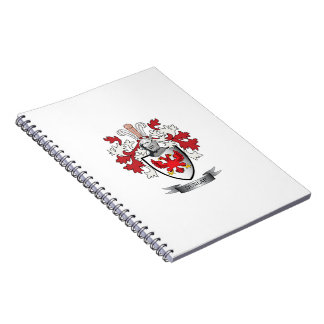 Caderno Espiral Brasão da crista da família de Dunlap