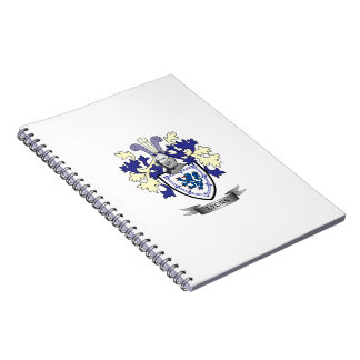 Caderno Espiral Brasão da crista da família de Lyons