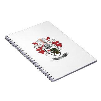 Caderno Espiral Brasão da crista da família de MacGregor
