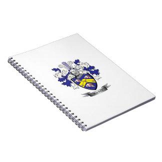 Caderno Espiral Brasão da crista da família de MacKay
