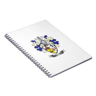 Caderno Espiral Brasão da crista da família de McLain