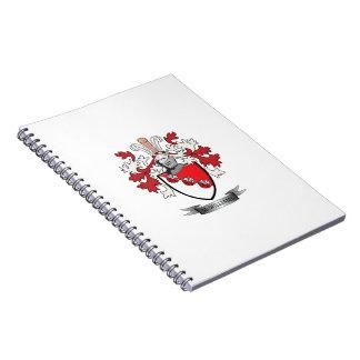 Caderno Espiral Brasão da crista da família de McWilliams