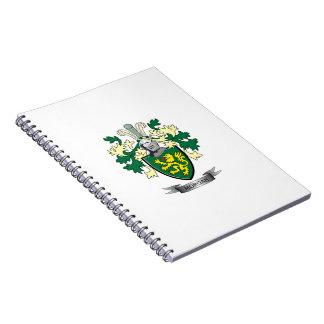 Caderno Espiral Brasão da crista da família de Morgan