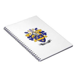 Caderno Espiral Brasão da crista da família de Myrick