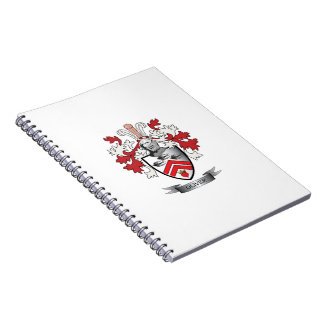 Caderno Espiral Brasão da crista da família de Oliver
