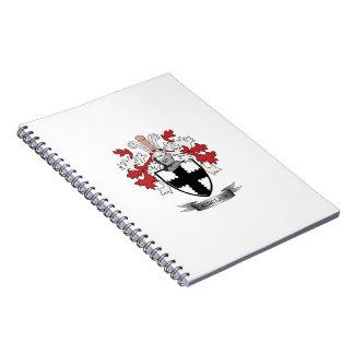 Caderno Espiral Brasão da crista da família de Sinclair