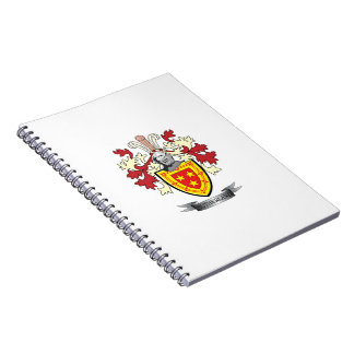 Caderno Espiral Brasão da crista da família de Sutherland