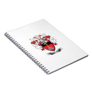 Caderno Espiral Brasão da crista da família de Templeton