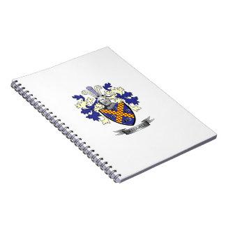 Caderno Espiral Brasão da crista da família de Waddell