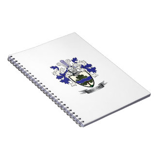 Caderno Espiral Brasão da crista da família de Watson