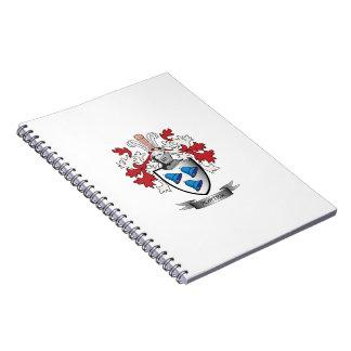 Caderno Espiral Brasão da crista da família do porteiro