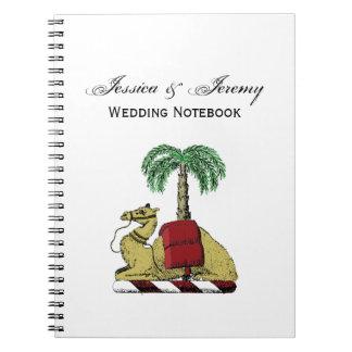 Caderno Espiral Brasão heráldica da cor da palmeira do camelo