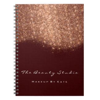 Caderno Espiral Brilho do marrom do cobre do maquilhador dos olhos