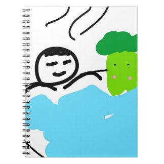 Caderno Espiral Brócolos bonitos em Hot Springs