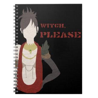 Caderno Espiral Bruxa, por favor