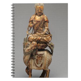 Caderno Espiral Buddha Shakyamuni com bodhisattvas assistentes