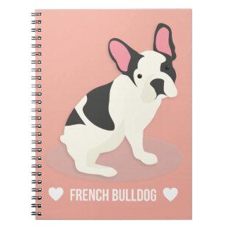 Caderno Espiral Buldogue francês bonito