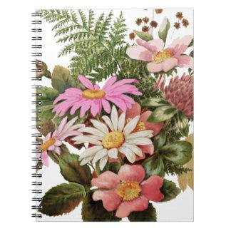Caderno Espiral buquê da flor