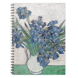 Caderno Espiral Buquê das flores na máscara azul