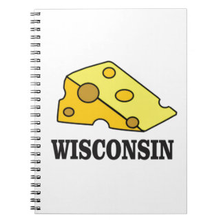 Caderno Espiral Cabeça do queijo de Wisconsin