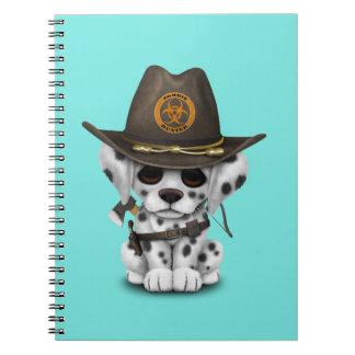 Caderno Espiral Caçador Dalmatian bonito do zombi do filhote de