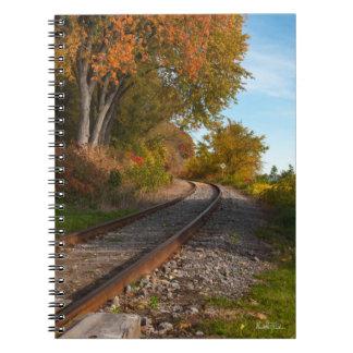 Caderno Espiral Caderneta de nota, fotografia de um caminho de