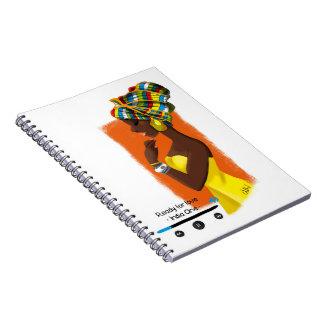Caderno Espiral Caderneta ilustrada African Queen