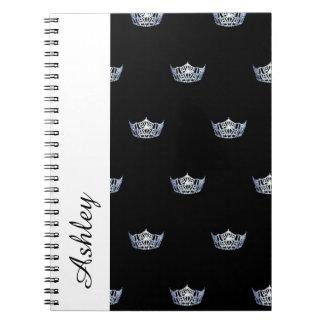 Caderno Espiral Caderno-Coroa & nome do costume