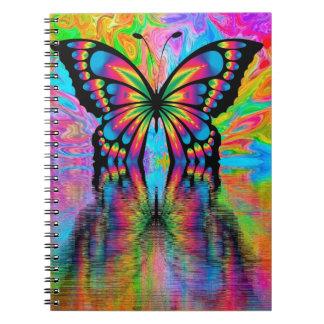 Caderno Espiral Caderno, design da borboleta