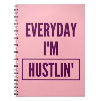 Caderno Espiral Caderno: Diário eu sou Hustlin