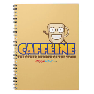 Caderno Espiral Cafeína, o outro membro dos funcionarios
