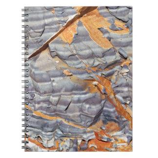 Caderno Espiral Camadas naturais de ágata em um arenito
