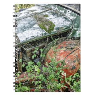 Caderno Espiral Caminhão abandonado do vintage