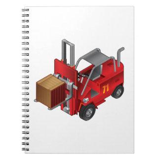 Caderno Espiral Caminhão de empilhadeira