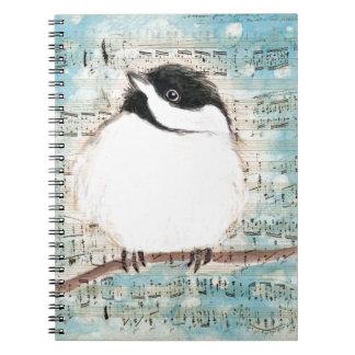 Caderno Espiral Canção da música do passarinho