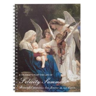 Caderno Espiral Canção memorável fúnebre de Mary do livro de
