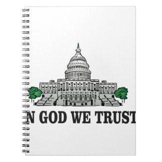 Caderno Espiral capital no deus que nós confiamos