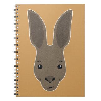 Caderno Espiral Cara do canguru