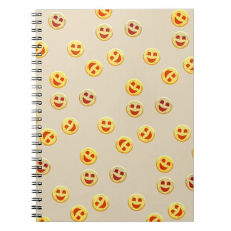 Caderno Espiral caras felizes dos biscoitos
