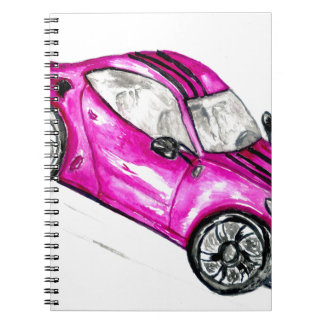 Caderno Espiral Carro desportivo Sketch2