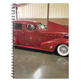 Caderno Espiral Carro do clássico do vintage