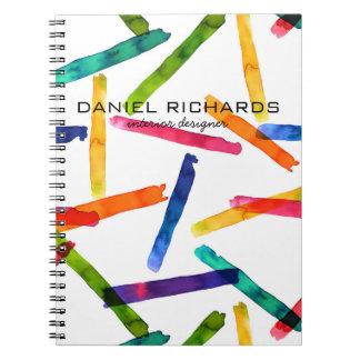 Caderno Espiral Cartão de visita do designer de interiores da