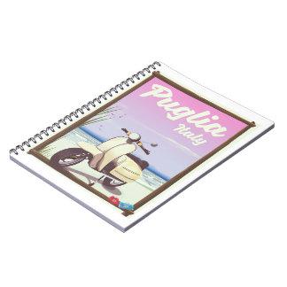 Caderno Espiral Cartaz do viagem de Puglia Italia